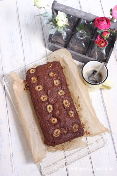 Himmlisches Double Chocolate Bread mit Bananen Rezept