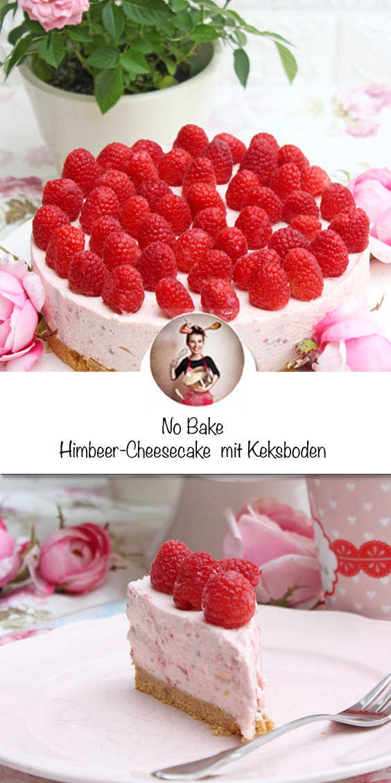 Himbeer-Cheesecake no bake cake